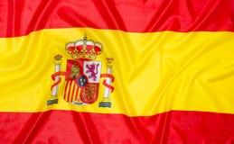 Vlag van Spanje stock afbeeldingen