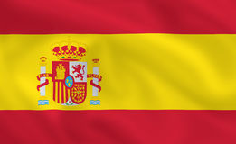 Vlag van Spanje Stock Afbeelding