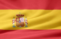Vlag van Spanje royalty-vrije illustratie