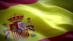 Vlag van Spanje stock videobeelden