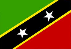 Vlag van St.Kitts.en.Nevis St. Stock Foto