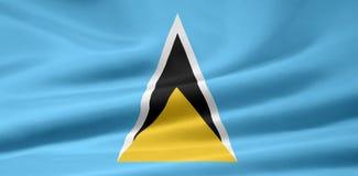 Vlag van St Lucia stock illustratie