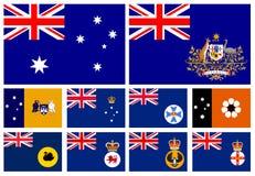 Vlag van staten van Australië Stock Fotografie