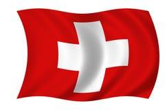 Vlag van suisse stock illustratie
