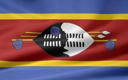 Vlag van Swasiland stock illustratie