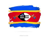 Vlag van Swasiland Abstract concept Stock Foto's