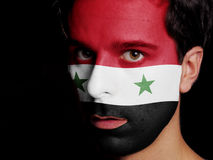 Vlag van Syrië Stock Foto