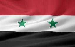 Vlag van Syrië Stock Afbeeldingen