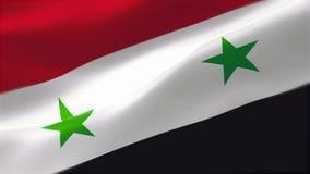 Vlag van Syrische Arabische Republiek stock illustratie