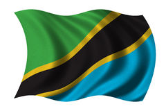 Vlag van Tanzania royalty-vrije illustratie
