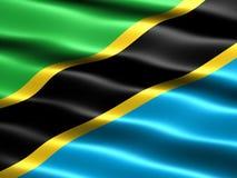 Vlag van Tanzania Royalty-vrije Stock Afbeeldingen