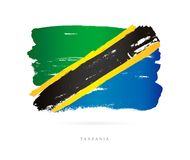 Vlag van Tanzania Abstract concept Stock Foto's