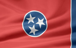 Vlag van Tennessee royalty-vrije illustratie