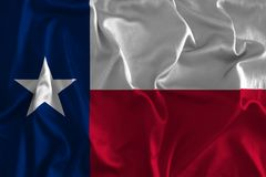Vlag van Texas Background, de Lone Star-Staat Stock Afbeelding
