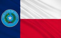 Vlag van Texas, de V.S. Royalty-vrije Stock Afbeeldingen