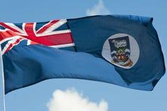 Vlag van Th Falkland Eilanden met regels royalty-vrije stock afbeeldingen