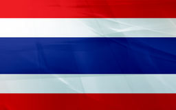 Vlag van Thailand Stock Foto