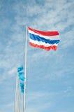Vlag van Thailand Stock Afbeelding
