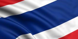 Vlag van Thailand Stock Fotografie