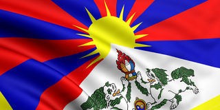 Vlag van Tibet Stock Afbeeldingen