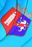 Vlag van Tirana, Albanië royalty-vrije illustratie