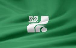 Vlag van Tochigi - Japan Stock Afbeelding