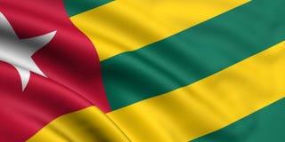 Vlag van Togo Stock Afbeeldingen