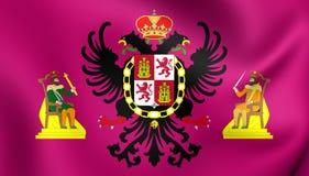 Vlag van Toledo City, Spanje Royalty-vrije Stock Afbeelding