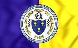 Vlag van Trenton City New Jersey, de V.S. Royalty-vrije Stock Afbeelding