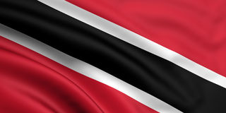 Vlag van Trinidad en Tobago Royalty-vrije Stock Afbeelding