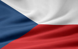 Vlag van Tsjechische Repbulic royalty-vrije illustratie