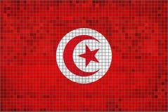 Vlag van Tunesië Royalty-vrije Stock Afbeeldingen