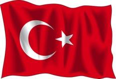 Vlag van Turkije Royalty-vrije Stock Afbeelding
