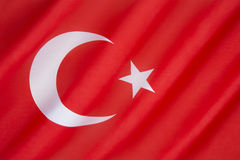Vlag van Turkije Royalty-vrije Stock Afbeeldingen