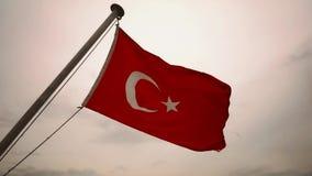 Vlag van Turkije stock video