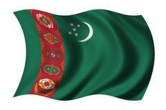 Vlag van Turkmenistan Stock Fotografie