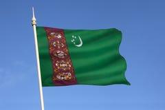 Vlag van Turkmenistan - Centraal-Azië Stock Afbeeldingen