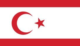 Vlag van Turkse republiek van noordelijk Cyprus Stock Foto