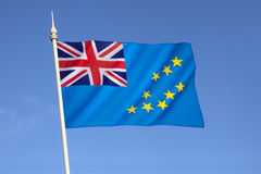 Vlag van Tuvalu Royalty-vrije Stock Afbeelding