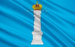 Vlag van Ulyanovsk Oblast, Russische Federatie royalty-vrije illustratie
