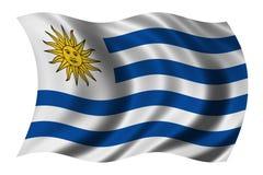 Vlag van Uruguay Royalty-vrije Stock Fotografie