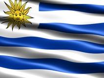Vlag van Uruguay Stock Foto's