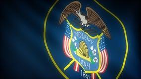 Vlag van Utah royalty-vrije illustratie