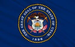 Vlag van Utah, de V.S. Stock Afbeeldingen