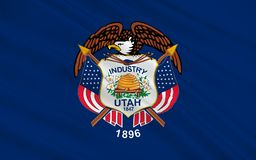 Vlag van Utah, de V.S. Stock Foto