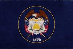 Vlag van Utah Grunge Stock Afbeelding
