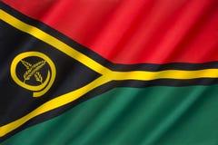 Vlag van Vanuatu Royalty-vrije Stock Foto's