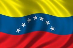 Vlag van Venezuela Stock Foto