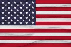 Vlag van Verenigde Staten op het zand Stock Fotografie