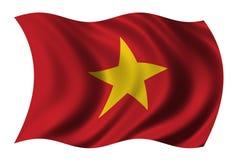 Vlag van Vietnam stock illustratie